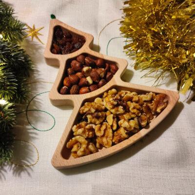 Lesena posodica za oreščke