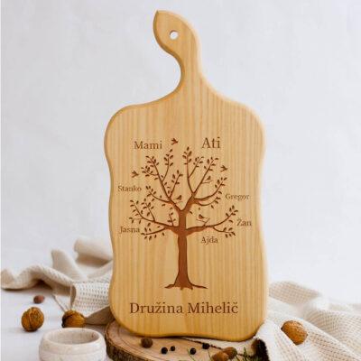 kuhinjska deska družinsko drevo
